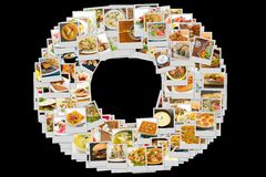 Collage de la cocina del mundo Imagen de archivo libre de regalías