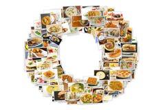 Collage de la cocina del mundo Foto de archivo libre de regalías