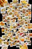 Collage de la cocina del mundo Imagen de archivo