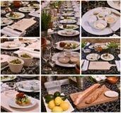 Collage de la comida del abastecimiento fotos de archivo libres de regalías