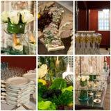 Collage de la comida del partido Fotografía de archivo libre de regalías