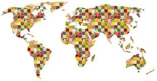 Collage de la comida mezclada fresca Correspondencia de mundo imágenes de archivo libres de regalías