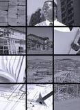 Collage de la construcción Imagen de archivo libre de regalías