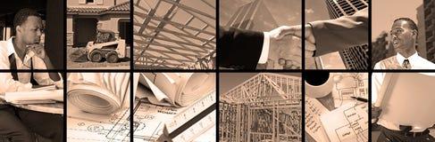 Collage de la construcción Imagenes de archivo