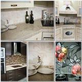 Collage de la decoración de la cocina Imagen de archivo