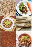 Collage de la ensalada de la quinoa Imagenes de archivo