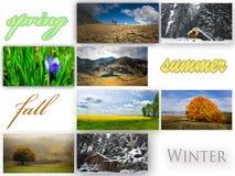 Collage de la estación fotos de archivo libres de regalías