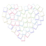 Collage de la forma del corazón Foto de archivo