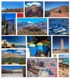 Collage de la foto de Marruecos imagen de archivo