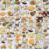 Collage de la foto del alimento imagenes de archivo