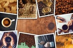 Collage de la foto del café Foto de archivo libre de regalías