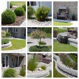 Collage de la foto del diseño del jardín Fotografía de archivo libre de regalías