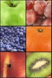 Collage de la fruta foto de archivo