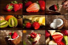 Collage de la fruta Foto de archivo libre de regalías