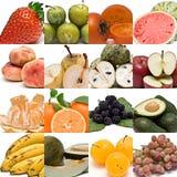 Collage de la fruta. Imagen de archivo libre de regalías