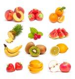 Collage de la fruta Imagenes de archivo