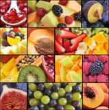 Collage de la fruta fotos de archivo