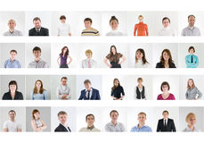 Collage de la gente Imagen de archivo
