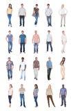 Collage de la gente multiétnica en casual foto de archivo
