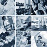 Collage de la gimnasia Fotografía de archivo libre de regalías