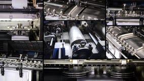 Collage de la impresión almacen de metraje de vídeo