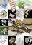 Collage de la joyería fotos de archivo libres de regalías
