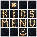 Collage de la lettre majuscule - les mots BADINE LE MENU Image libre de droits