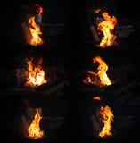 Collage de la llama foto de archivo libre de regalías