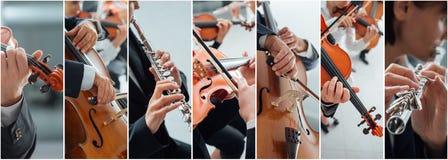 Collage de la música clásica foto de archivo