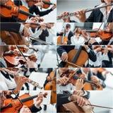 Collage de la música clásica foto de archivo libre de regalías