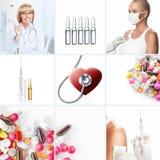 Collage de la medicina Foto de archivo libre de regalías