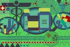 Collage de la medicina y de la ciencia ilustración del vector