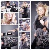Collage de la moda de Italo imagenes de archivo