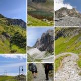 Collage de la montaña Fotografía de archivo libre de regalías