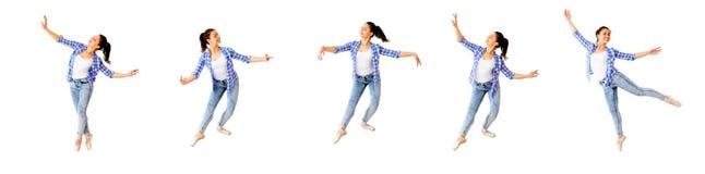 Collage de la muchacha de baile imágenes de archivo libres de regalías