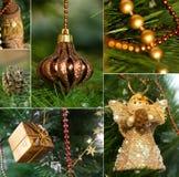 Collage de la Navidad Foto de archivo libre de regalías