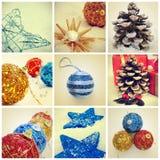 Collage de la Navidad Imagen de archivo
