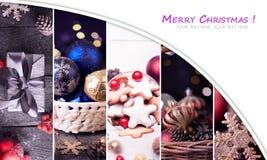 Collage de la Navidad Fotografía de archivo