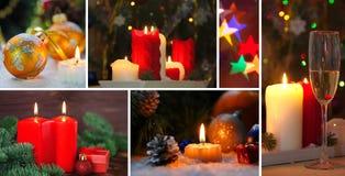 Collage de la Navidad y del Año Nuevo Imagen de archivo
