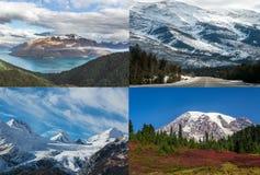 Collage de la nieve de la montaña Foto de archivo libre de regalías