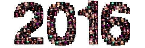 Collage de la Noche Vieja Imagen de archivo