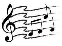 Collage de la nota de la música Fotografía de archivo libre de regalías