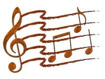 Collage de la nota de la música Fotografía de archivo