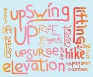Collage de la nube de la palabra, concepto del fondo foto de archivo