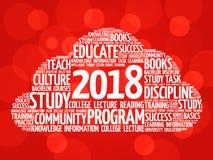 Collage 2018 de la nube de la palabra de la educación Fotos de archivo