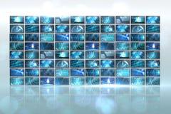 Collage de la pantalla que muestra imágenes computacionales Foto de archivo libre de regalías