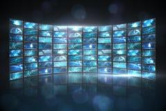 Collage de la pantalla que muestra imágenes computacionales Imagen de archivo libre de regalías
