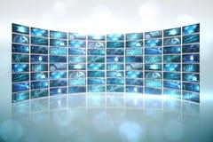Collage de la pantalla que muestra imágenes computacionales Imágenes de archivo libres de regalías