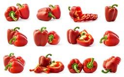 Collage de la pimienta Imagenes de archivo
