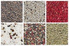 Collage de la pimienta Fotografía de archivo libre de regalías